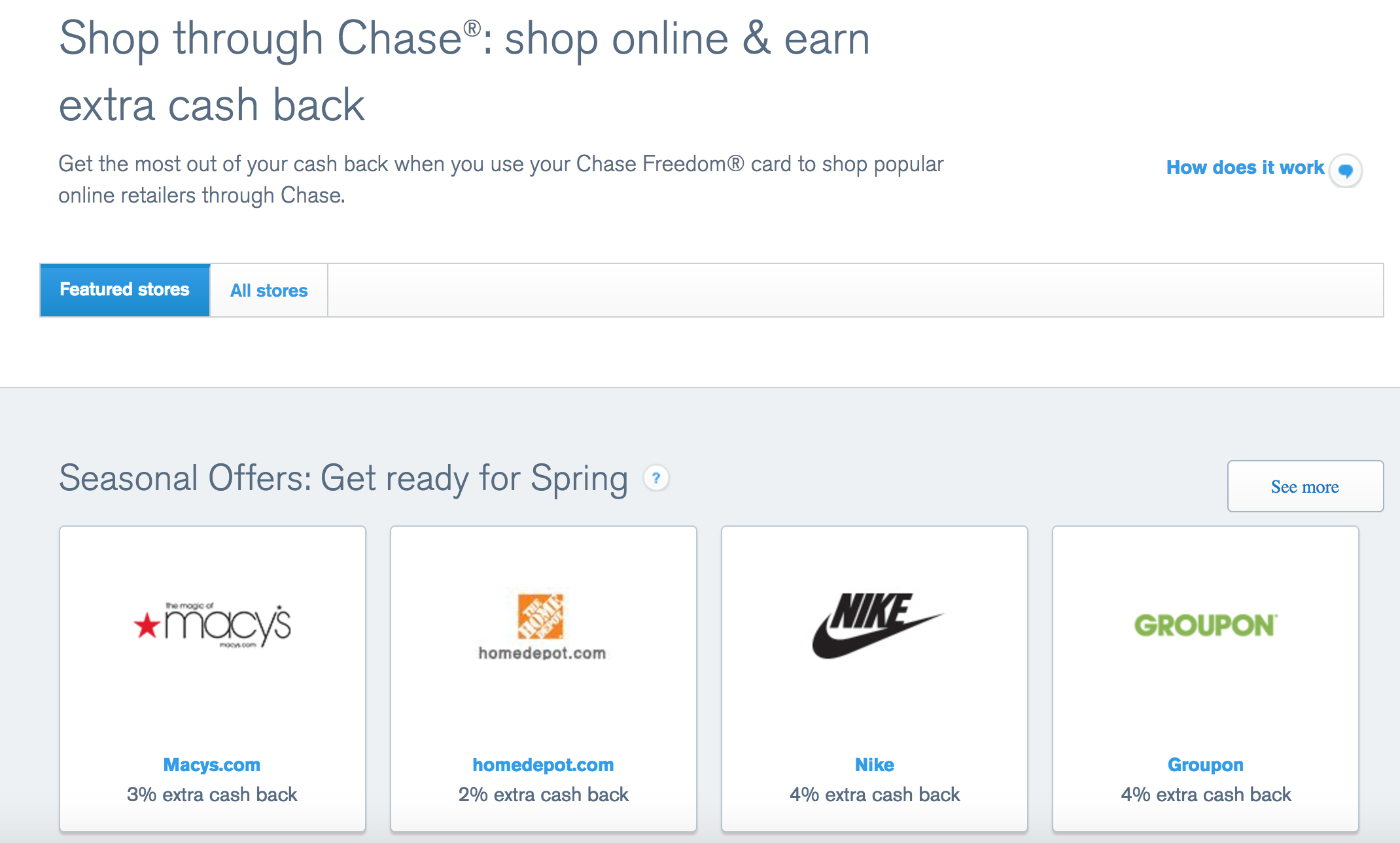 Chase Card Travel Rewards